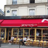 Parisian terrace called nord Sud Royalty Free Stock Image