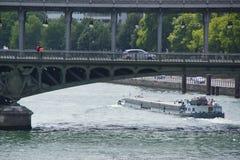 Parisian view sight, the Seine, the bridges - France royalty free stock photo