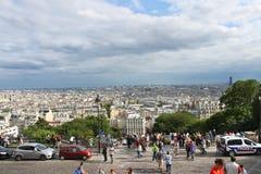 Parisians and tourists on Montmartre. Paris. Royalty Free Stock Photo