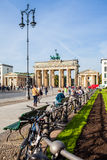 Parisien Platz with Brandenburg tor in Berli, Bermany Royalty Free Stock Photo