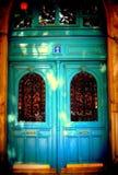 Parisisk dörr Arkivfoto