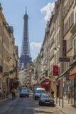 Parisisk gata Royaltyfria Bilder