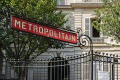 Parisisk metropolitain Arkivfoto
