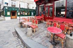 Parisisk restaurang på montmartre Arkivfoto