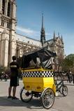 Parisisk velotaxi Arkivfoto