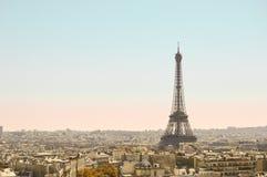 Parisisk vykort arkivbild