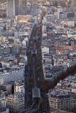 Parisiska tak Arkivbilder