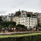 Parisss. The haussmann buildings stock photo