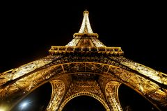 ParisView του πύργου του Άιφελ στο ηλιοβασίλεμα Στοκ εικόνες με δικαίωμα ελεύθερης χρήσης