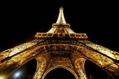 ParisView van de toren van Eiffel op de Zonsondergang Royalty-vrije Stock Afbeeldingen