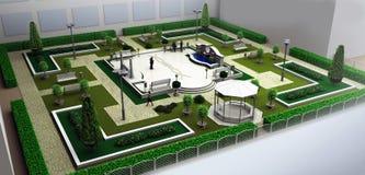 park Arkivbild