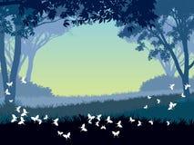 park vektor illustrationer