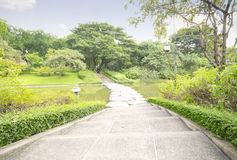 Park. Beautiful Park Pathway in city Park Stock Image