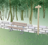 In the park. Computer generated illustration of a park scene stock illustration