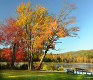 Park. The New England state park, in autumn season Royalty Free Stock Images
