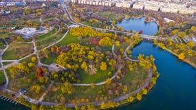 Park Alexandru Ioan Cuza, Bukarest Stockfoto