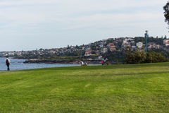 Park along the Bondi to Coogee coastal walk in Sydney, Australia royalty free stock photography