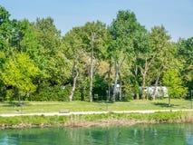 Park near Pont d`Avignon Royalty Free Stock Image
