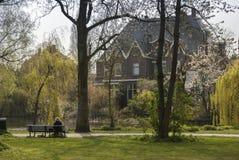 Park in Amsterdam. Netherlands Stock Photo