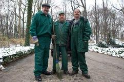 Park-Arbeitskräfte in Warschau, Polen Lizenzfreies Stockfoto