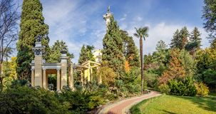 Moorish gazebo in the Arboretum in Sochi. Russia. Park Arboretum is a landmark in the resort city of Sochi, here people like to relax Royalty Free Stock Photography