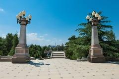 Park area of Nizami mausoleum in Gyanja Stock Images