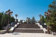 Park area of Nizami mausoleum in Gyanja Royalty Free Stock Image