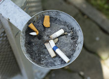 Park ashtray Stock Image