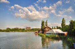 Park attractions and entertainment Sunny Island in Krasnodar Royalty Free Stock Image