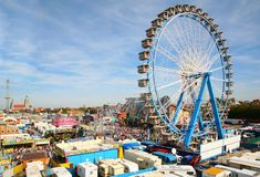 Park of attractions. Munich Octoberfest. Stock Photography