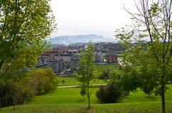 Park auf Berg Naranco Stockfotografie