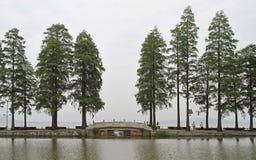 Park auf Ostsee in Wuhan lizenzfreies stockbild