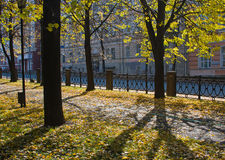 park in an autumn sunny day Royalty Free Stock Images