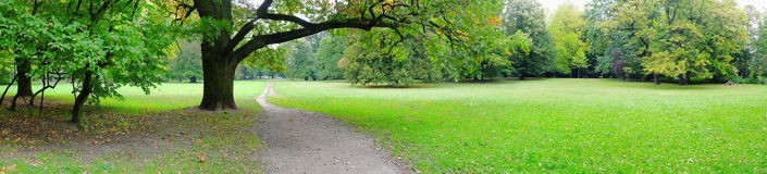 Park in autumn time Royalty Free Stock Images