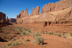 Park Ave. Overlook,  Arches N.P. Royalty Free Stock Image
