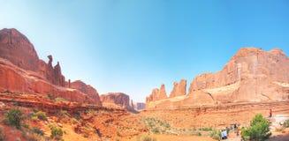 Park Avenue-Überblick am Nationalpark der Bögen in Utah, USA stockfoto