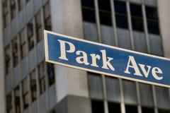Park Avenue stock image