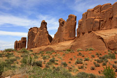 Park Avenue. Stone formations at Arches National Park, Utah, USA Stock Image