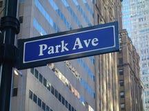 Park Avenue Imagen de archivo libre de regalías