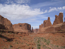 Park Avenue in Arches National. Royalty Free Stock Photo