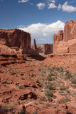 Park Avenue at Arches National Park Stock Images