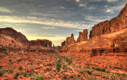 Park avenue at Arches National Park Stock Photos