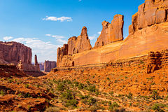 Park Avenue at Arches National Park. Park Avenue Trailhead view in Arches National Park, Moab, Utah stock image