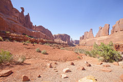 Park Avenue in Arches National Park, Utah Royalty Free Stock Photos