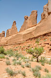 Park Avenue, Arches national park, Utah Royalty Free Stock Images
