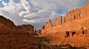 Park Avenue at Arches National Park, Utah Royalty Free Stock Photos