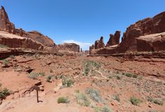 Park Avenue in Arches National Park. Utah. USA stock photography