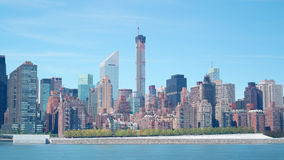 432 park avenue building construction day time 4k time lapse from new york stock video footage