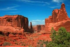 Park Avenue-de Sectie overspant Nationaal Park Moab Utah Royalty-vrije Stock Foto