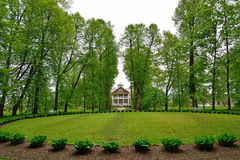 The Park and Avenue in the estate, the house-Museum of Peter Abr Stock Photos